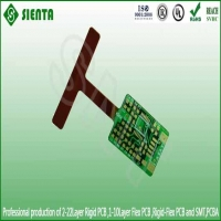 Green solder mask flex pcb